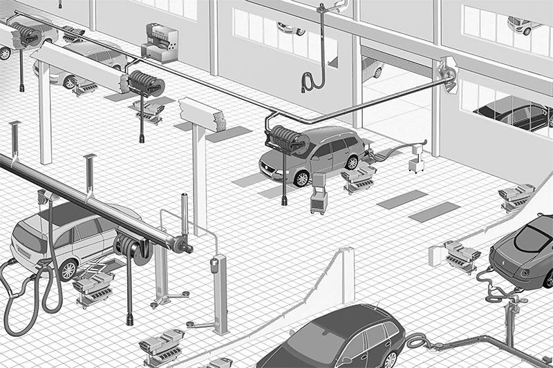 sistemi distribuzione aria compressa